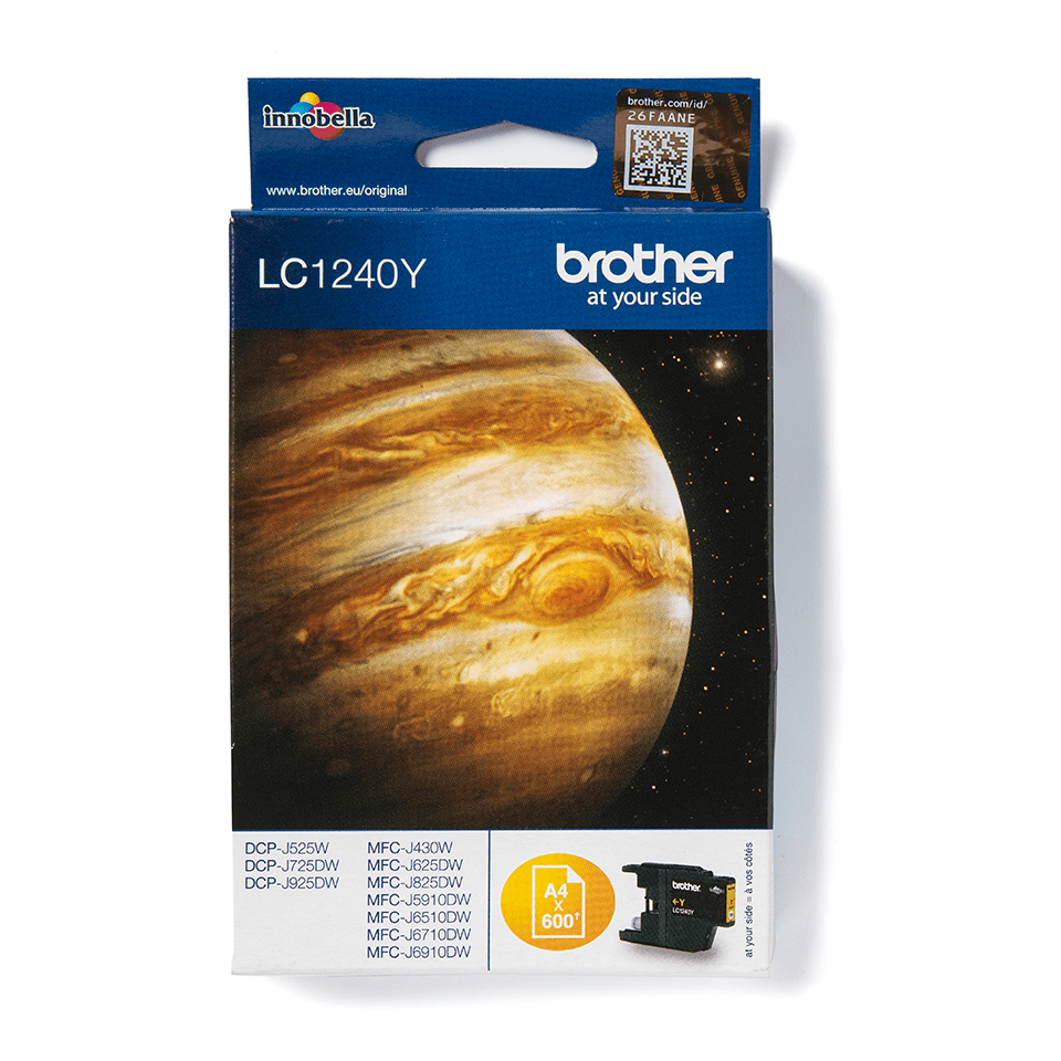 LC1240Y Brother genuine ink cartridge pack front image