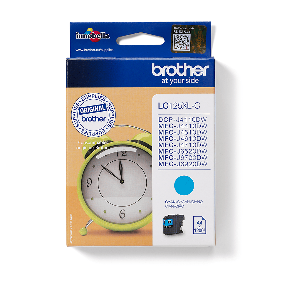 Brother LC125XLC cartouche d'encre cyan 2
