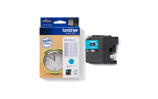 Genuine Brother LC125XLC Ink Cartridge – Cyan 3