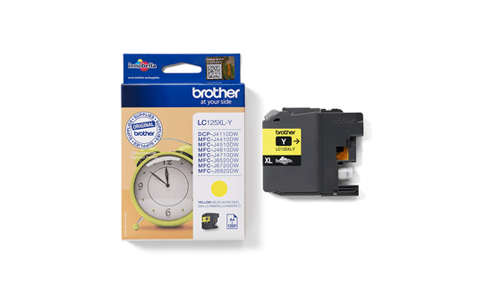 Brother LC125XLY inktpatroon geel 3