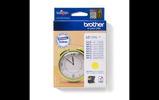 Originele Brother LC-125XLY gele inktcartridge