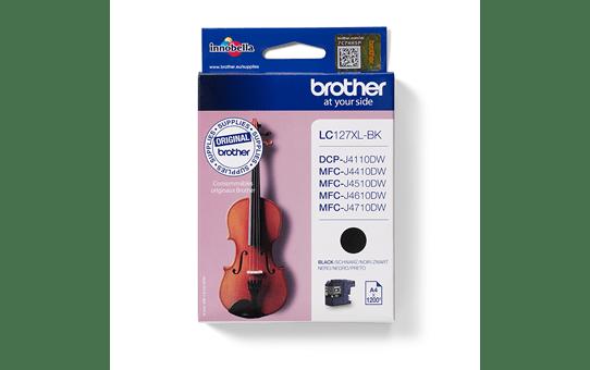 Original LC-127XLBK High Yield Tintenpatrone von Brother – Schwarz