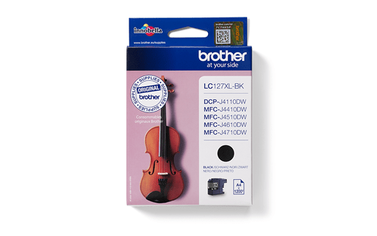 Originele Brother LC-127XLBK inktcartridge met hoge capaciteit – zwart