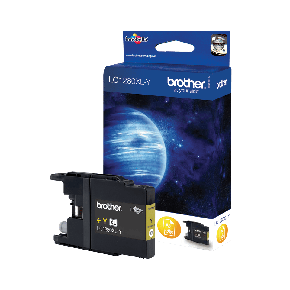Keltainen LC1280XLY-mustekasetti