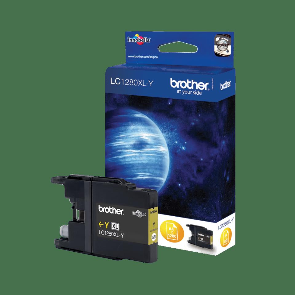 Oriģinālā Brother LC1280XLY augstas ražības tintes kasetne – dzeltenā krāsā