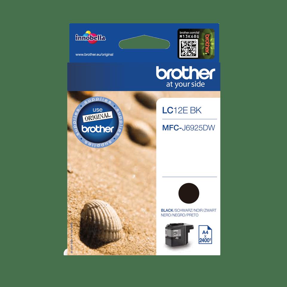 Originele Brother LC-12EBK zwarte inktcartridge