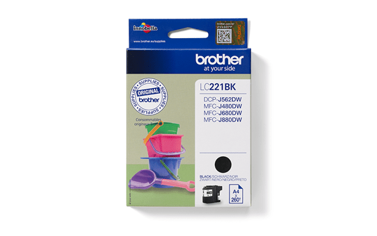 Brother LC221BK bläckpatron – svart