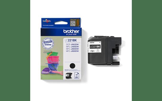 Brother LC221BK inktpatroon zwart