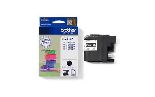 Genuine Brother LC221BK Ink Cartridge – Black 2