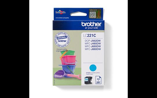 Genuine Brother LC221C Ink Cartridge – Cyan 2