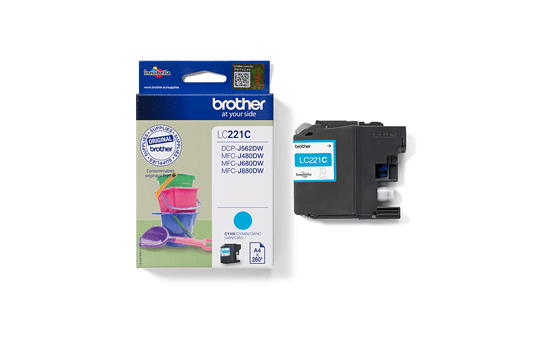 Brother LC221C cartouche d'encre cyan 3