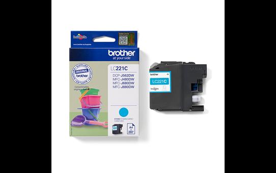 Genuine Brother LC221C Ink Cartridge – Cyan 3