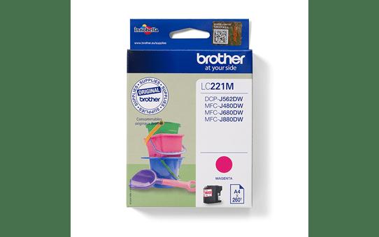 Brotherin alkuperäinen LC221M-värikasetti – Magenta