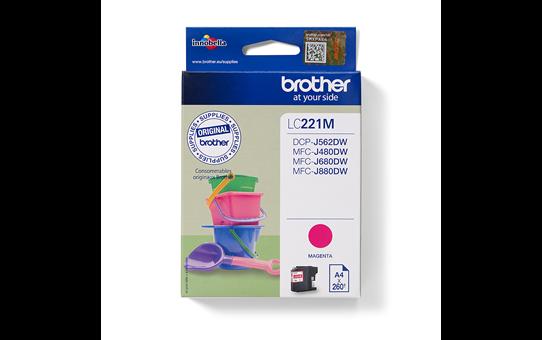 Original Brother LC221M blekkpatron - magenta
