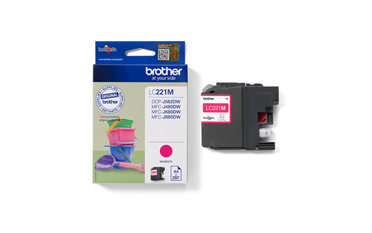 Brother LC221M cartouche d'encre magenta 3