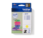 Brother LC221Y cartouche d'encre jaune