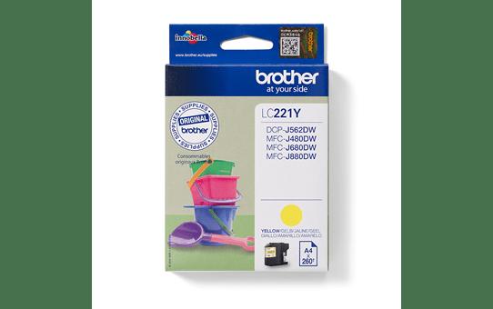 Originele Brother LC-221Y gele inktcartridge