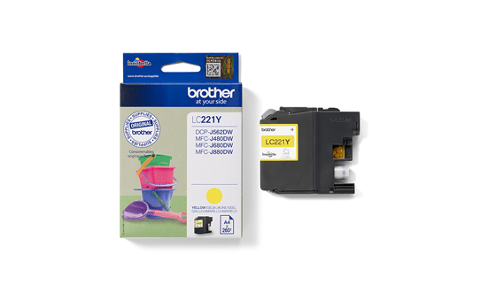 Brother LC221Y cartouche d'encre jaune 3