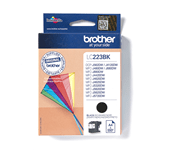 LC223BK Black ink cartridge facing left