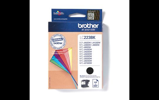Originali Brother LC223BK rašalo kasetė – juodos spalvos