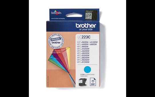 Oryginalny tusz LC223C firmy Brother w kolorze cyan