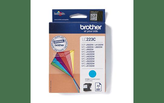 Originali Brother LC223C rašalo kasetė – Cyan spalvos