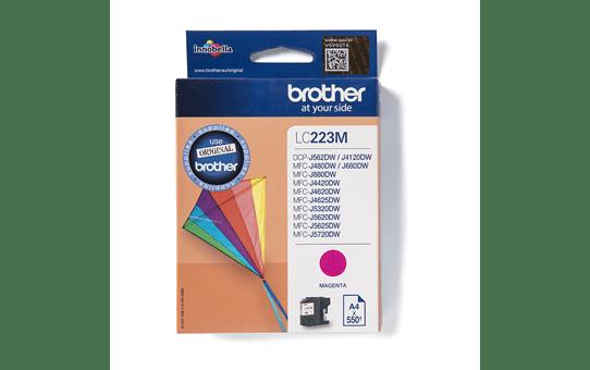 Oriģinālā Brother LC223M tintes kasetne - fuksīna krāsa