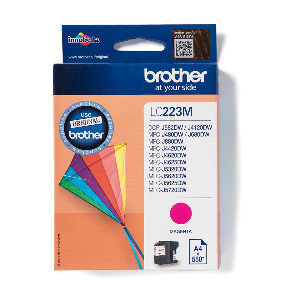 LC223M Brother genuine ink cartridge pack front image