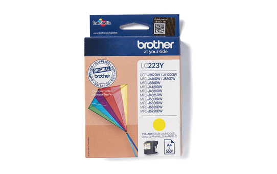 Cartouche d'encre LC223Y Brother originale – Jaune