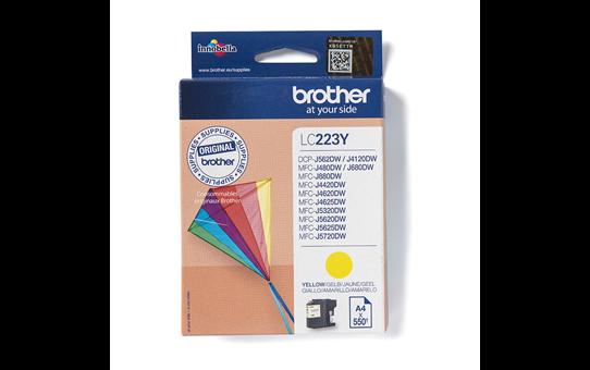 Oriģinālā Brother LC223Y tintes kasetne – dzeltenā krāsā