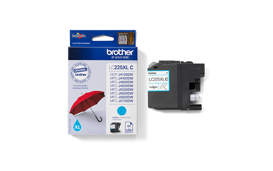 Brother LC225XLC Cartuccia originale inkjet XL - ciano 3