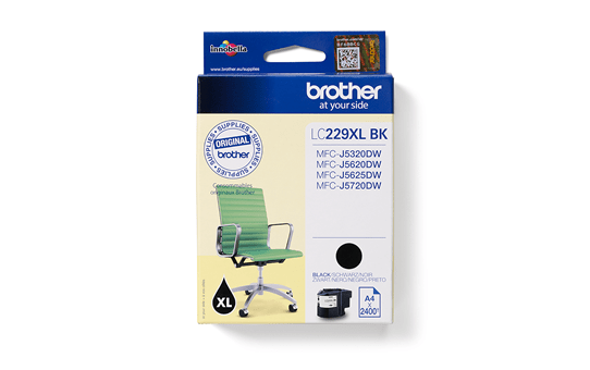 Original Brother LC229XLBK blækpatron – Sort