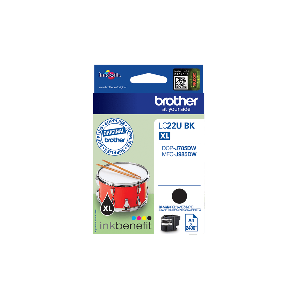 Genuine Brother LC22UBK Ink Cartridge – Black 2