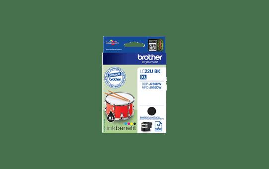 Alkuperäinen Brother LC22UBK -värikasetti – Musta 2