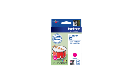 Originele Brother LC-22UM magenta inktcartridge 2
