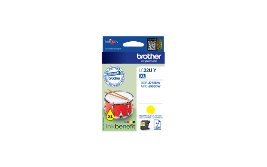 Genuine Brother LC22UY Super High Yield Ink Cartridge – Yellow 2