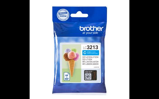 Genuine Brother LC3213C ink cartridge - cyan