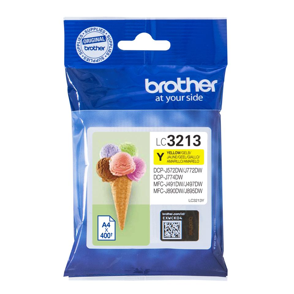 Brother original LC3213Y høykapasitet blekkpatron - gul