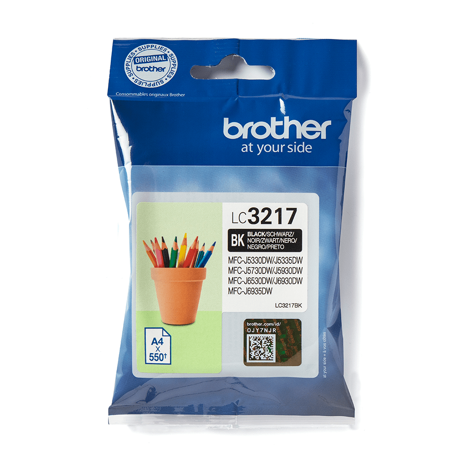 LC3217BK Brother genuine ink cartridge pack front image