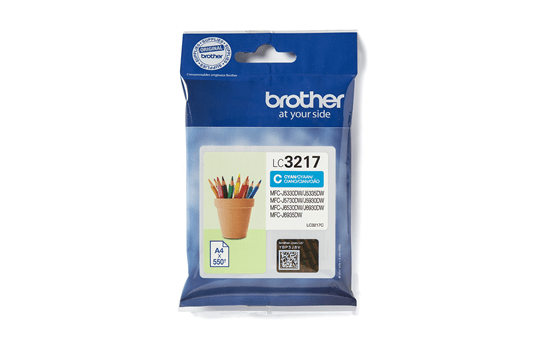 Oriģinālā Brother LC3217C tintes kasetne - ciāna
