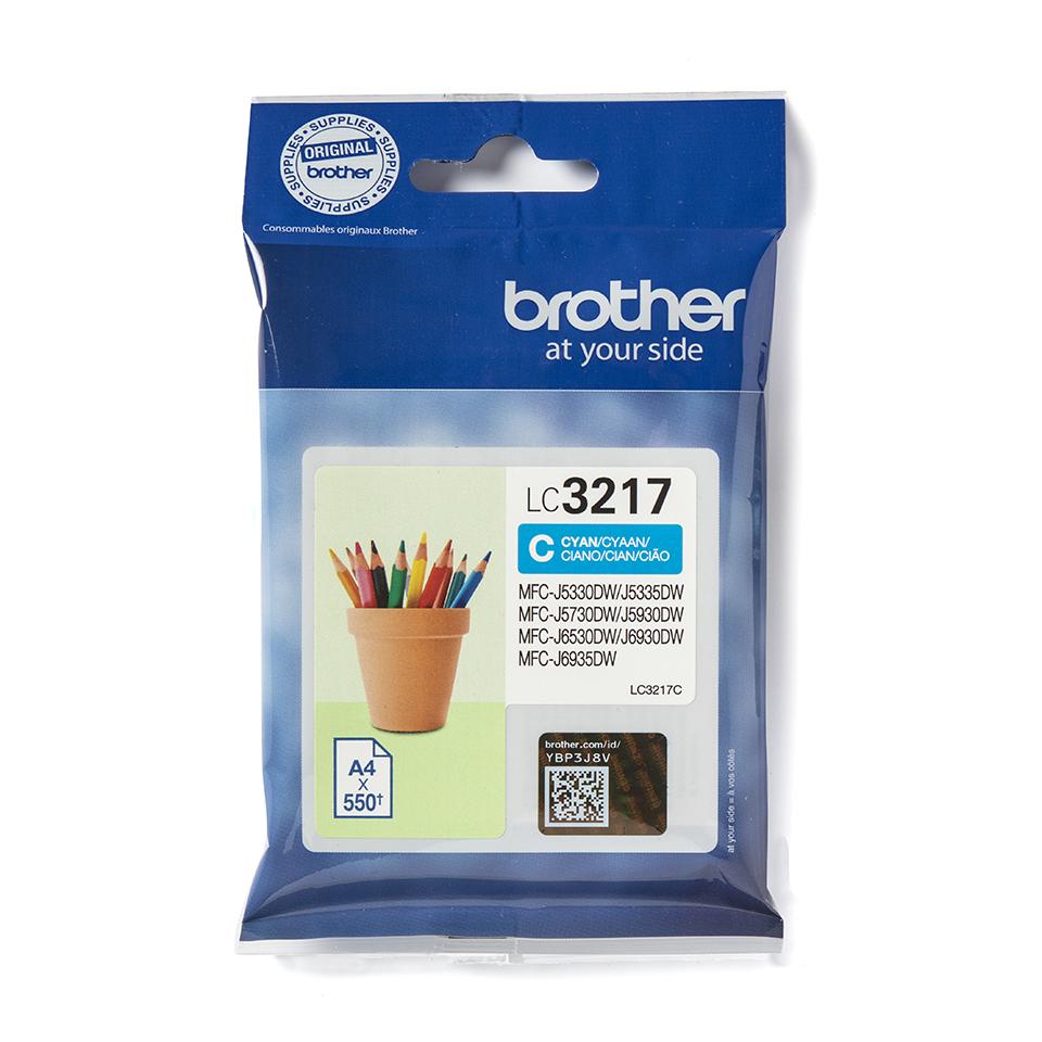 Brother original LC3217C cyan blekkpatron i emballasje