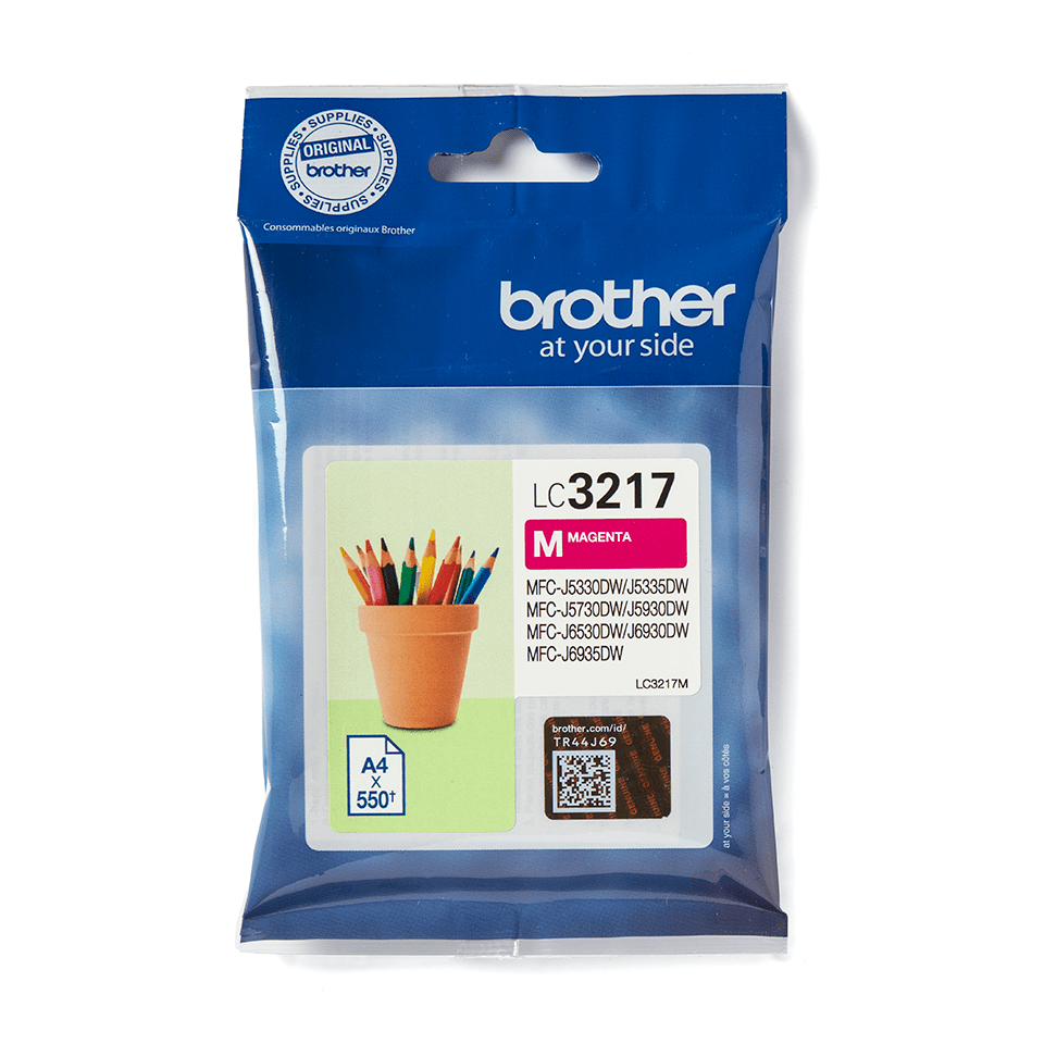 LC3217M Brother genuine ink cartridge pack front image