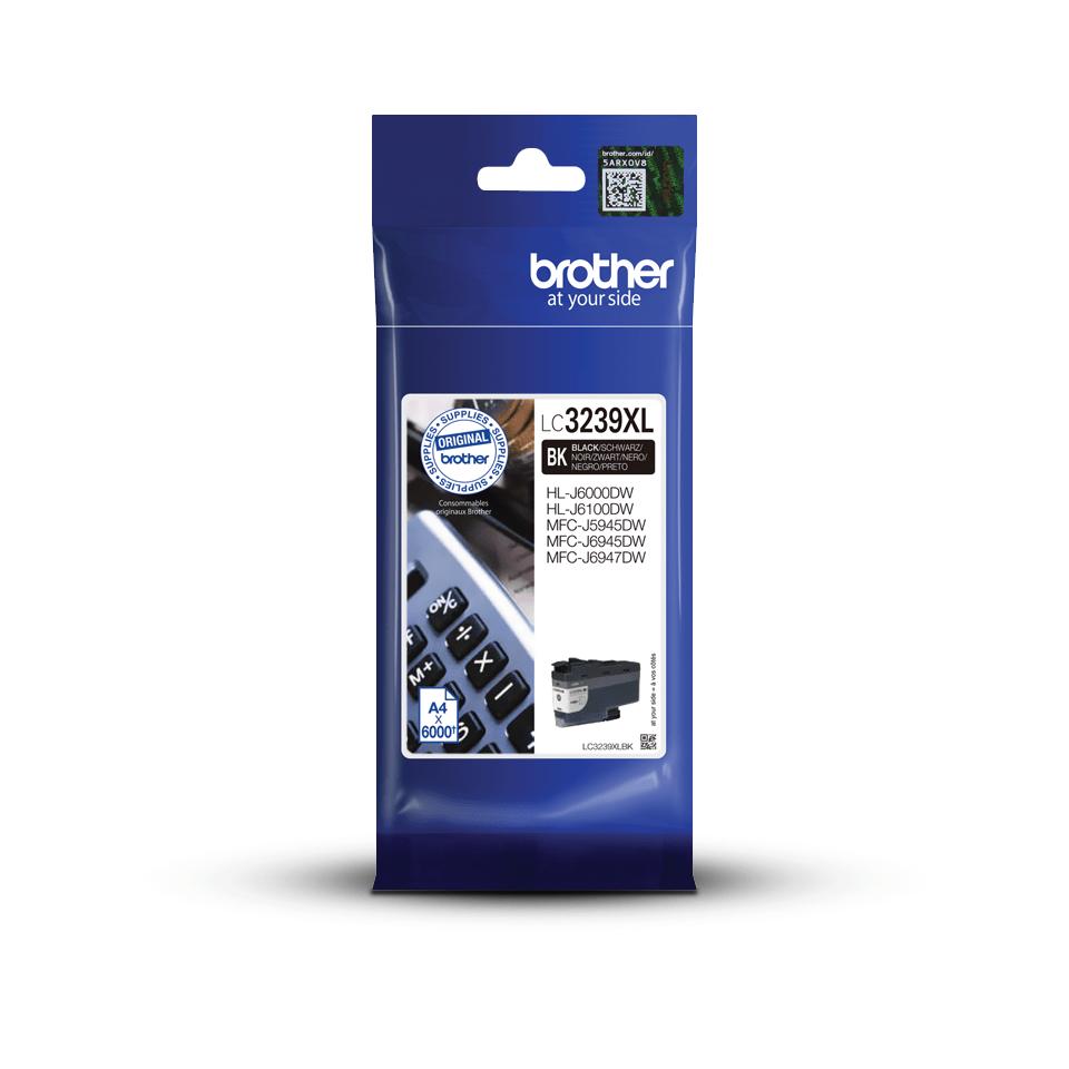Brother LC3239XLBK svart XL bläckpatron med hög kapacitet i förpackning