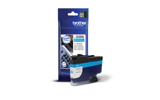 Brother original LC3239XLC XL høykapasitet blekkpatron - cyan 2