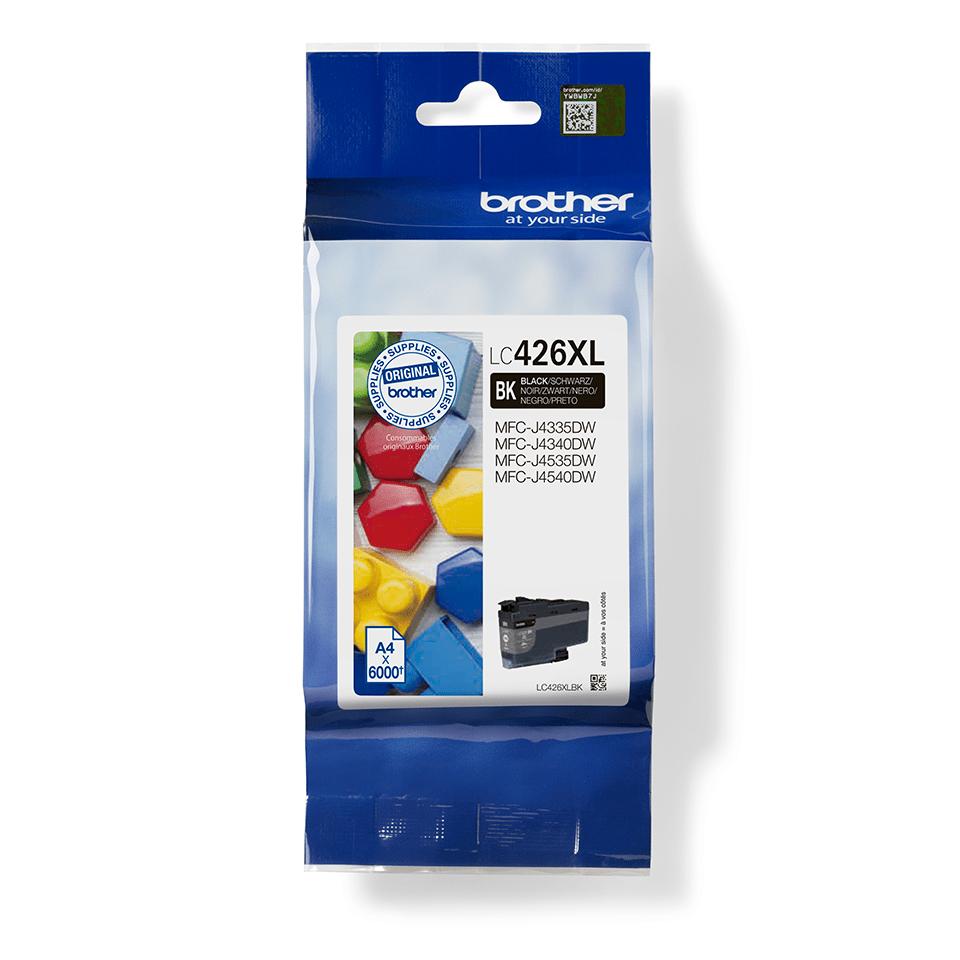 LC426XLBK-värikasetti pakkauksessa