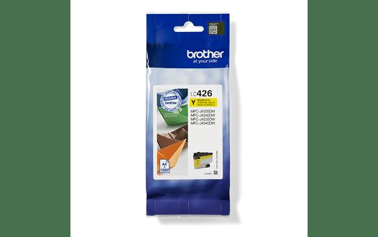 """Originali """"Brother"""" LC426Y rašalo kasetė – geltona"""