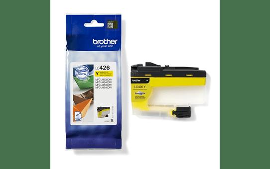 Oriģināla Brother LC426Y tintes kasetne – dzeltena 3