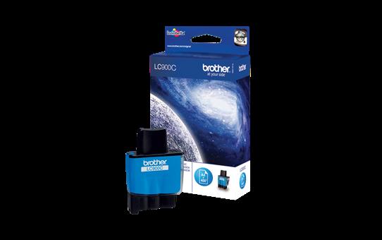 Brother LC900C: оригинальный картридж с голубыми чернилами  для заправки встроенного контейнера.