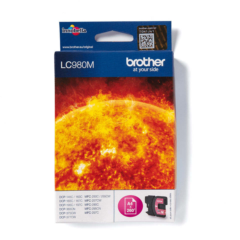 LC980M Brother genuine ink cartridge pack front image