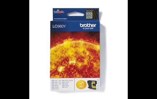 Oryginalny żółty tusz Brother LC-980Y